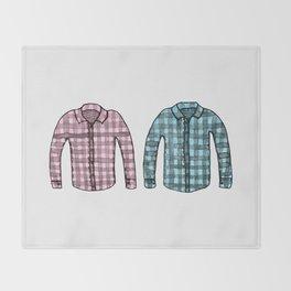 Flannel shirts Throw Blanket
