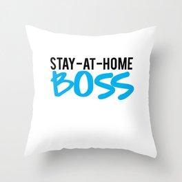 mom boss Throw Pillow
