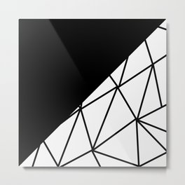 ABSTRACT PATTERNS (BLACK-WHITE) Metal Print