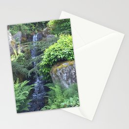 Kubota Garden waterfall Stationery Cards