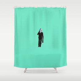 Shark Man Shower Curtain