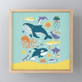 Sea Animals Framed Mini Art Print