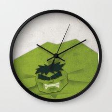 Paper Heroes - Hulk Wall Clock