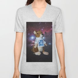 I need my space plush kangaroo Unisex V-Neck