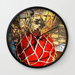 Basketball and net Wall Clock