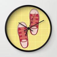 dorothy Wall Clocks featuring dorothy  by freshinkstain