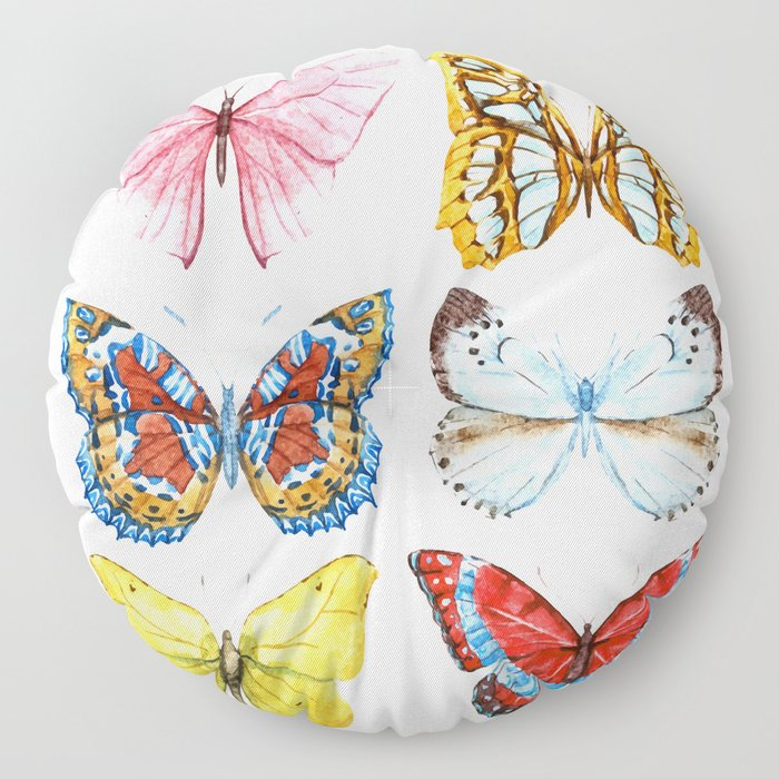 Butterflies 01 Floor Pillow