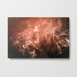 Smoke and Light Metal Print