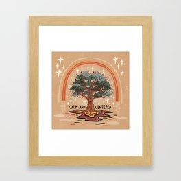 Calm and centered Framed Art Print