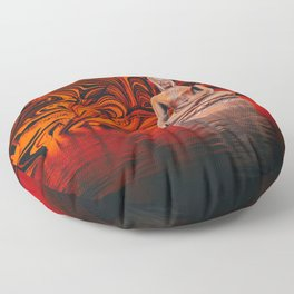 Buddha on a Lake of Fire and Water Floor Pillow