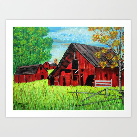 Old Farm 2 Art Print