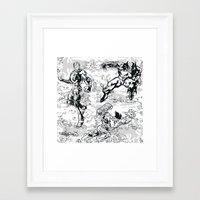 comics Framed Art Prints featuring Comics by Burg