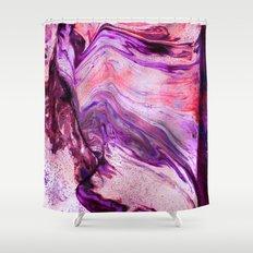 Marbled Garnet Shower Curtain
