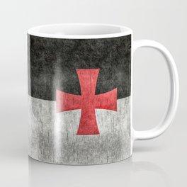 Knights Templar Flag in Super Grunge Coffee Mug
