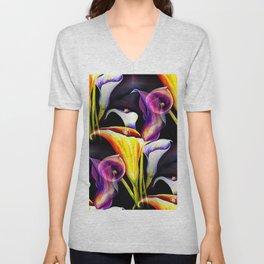 Watercolor Calla Lilies Unisex V-Neck