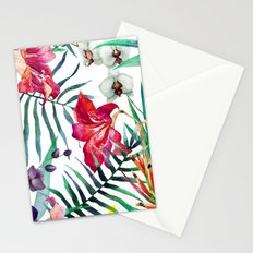 Tropical Watercolor Floral Stationery Cards