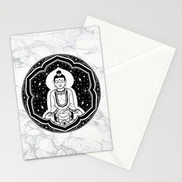 Buda Gautama, Siddharta Gautama, Sakiamuni (black) Stationery Cards