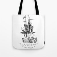 larry Tote Bags featuring Larry tattooes by Drawpassionn