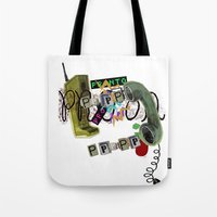 telephone Tote Bags featuring telephone  by Gianluca Floris