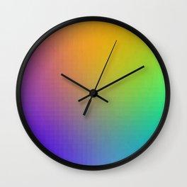 Pixel Color Gradient Wall Clock