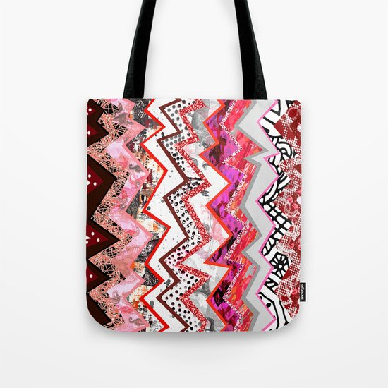 Love Heart Zigzags Tote Bag