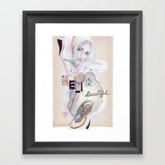 Hello, beautiful! Framed Art Print