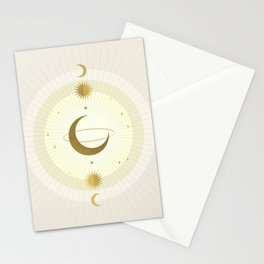 Moon Galaxy - Gold Stationery Cards