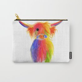 Scottish Highland Cow ' TOTTIE ' by Shirley MacArthur Carry-All Pouch