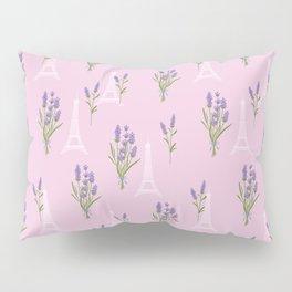Elegant lavender lilac white Paris Eiffel Tower floral Pillow Sham