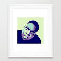 biggie Framed Art Prints featuring Biggie by victorygarlic