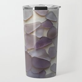 Genuine Purple Sea Glass Collection Travel Mug