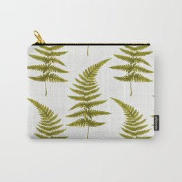 Green Watercolor Fern Pattern Carry-All Pouch