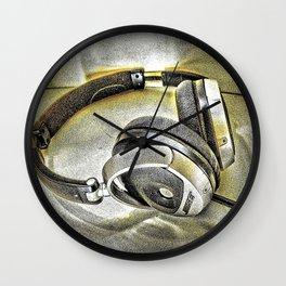 Headphones III Wall Clock