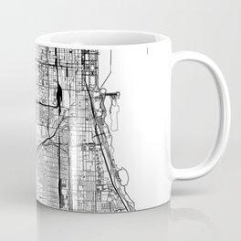 Chicago White Map Kaffeebecher
