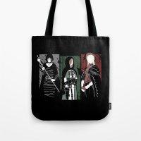 dark souls Tote Bags featuring Souls Waifus by Shadyfolk