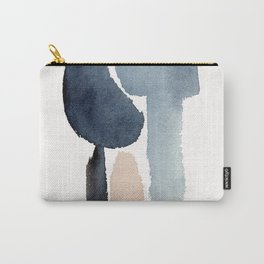 Navy Blue Minimal Figure Carry-All Pouch