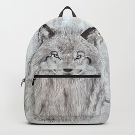 "Watercolor Painting of Picture ""Wolf"" Backpack"