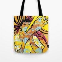 jazz Tote Bags featuring Jazz by Sanfeliu