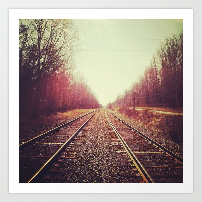 disappearing tracks Art Print