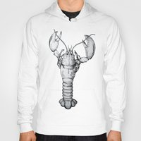 lobster Hoodies featuring Lobster by Isabel Peace
