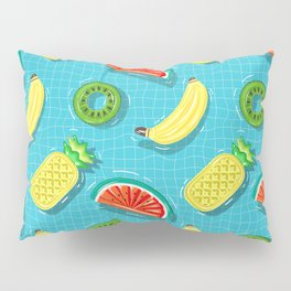 Pool Party pineapple, watermelon,banana,kiwi Pillow Sham