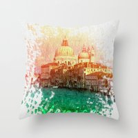venice Throw Pillows featuring Venice by GingerRogers