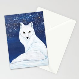 Holiday Arctic Fox Stationery Cards