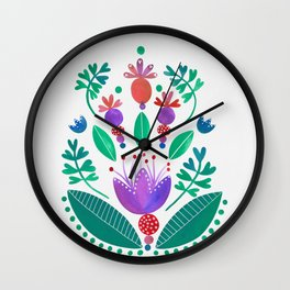 Kurbits - Balance - Scandinavian Folk Art Wall Clock