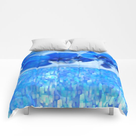 Blue Orchids Comforters