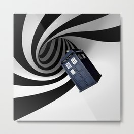 Tardis in the hole Metal Print