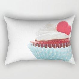Heart cupcake for Valentine's Day Rectangular Pillow