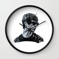 sunglasses Wall Clocks featuring Sunglasses by Charlotte Massey