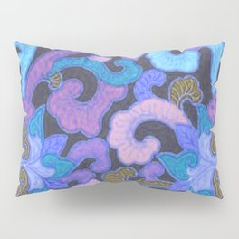 Vintage Blue Abstract Pillow Sham