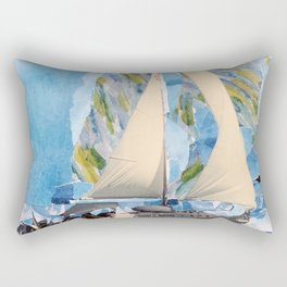 They Sailed the Atlantic Rectangular Pillow